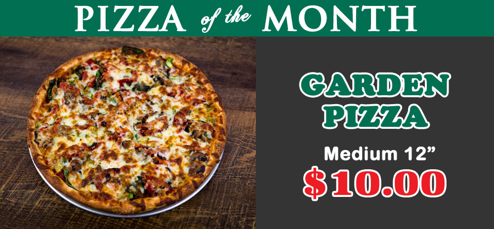 April 2017 Pizza of the Month - Garden Pizza