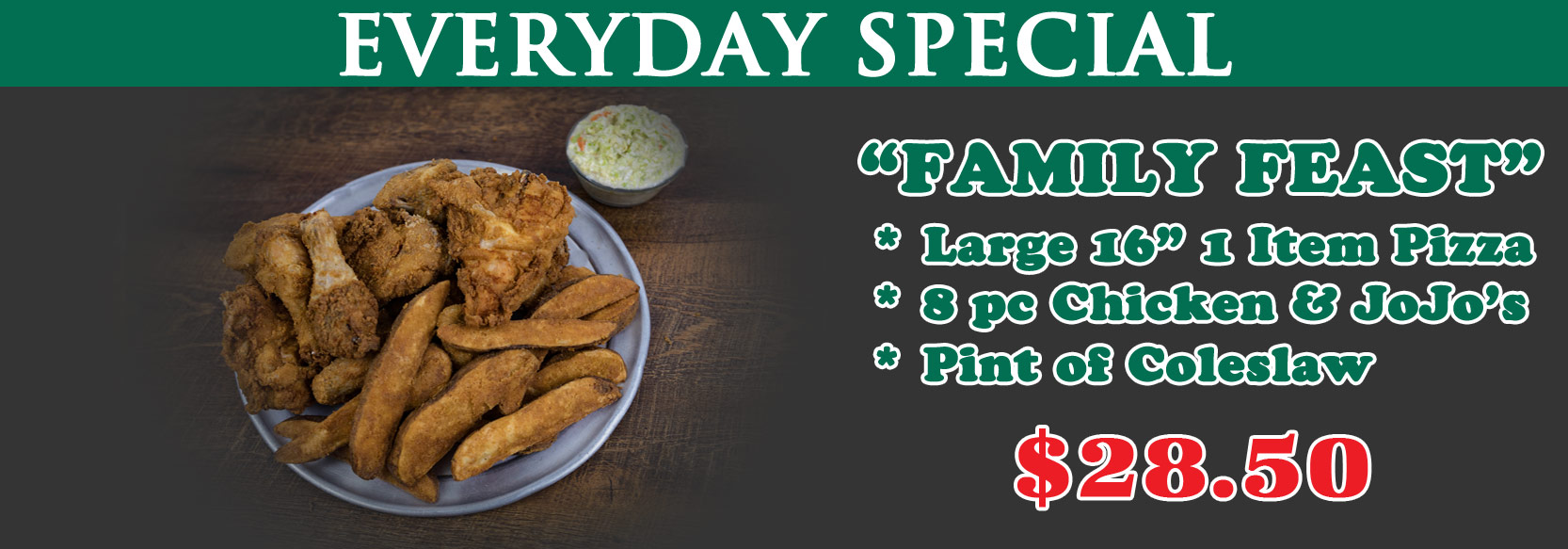 June 2020 Special of the Month - Family Feast